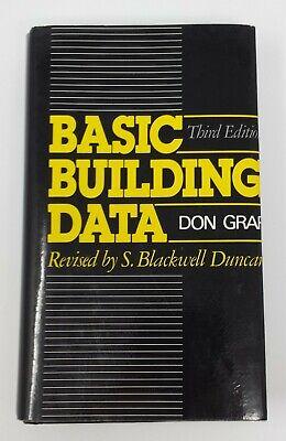 Basic Building Data By Don Graf 3rd Edition 1985 Hardback Construction Ref