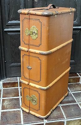 Shabby sofa table - Antiker gr. Überseekoffer Vintage Deko Oldtimer Koffer ~1900