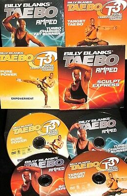 Taebo, Billy Blanks 4 DVDs $69 New! Workout,Fitness,Burn Fat,Get Fit,Tone,ABS