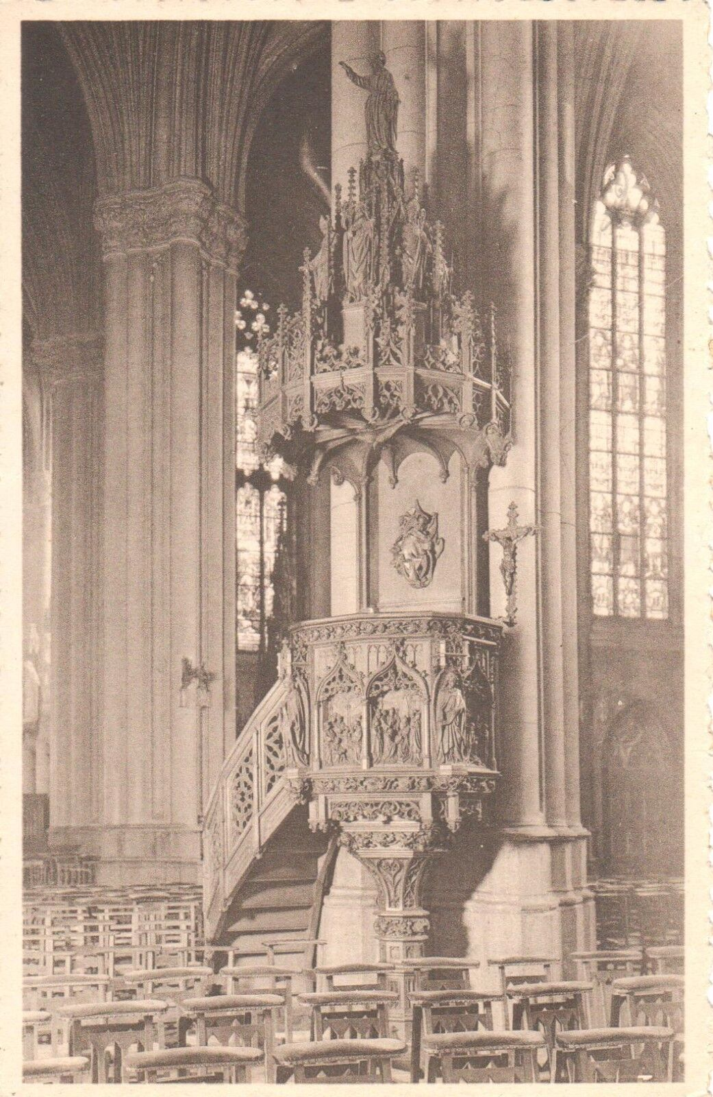 carte postale - Bruxelles - CPA - Ixelles - Eglise saint Boniface
