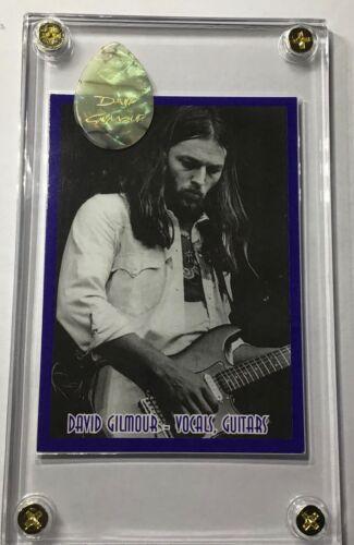 Very Rare Pink Floyd David Gilmour trading card /abalone guitar pick display!!!