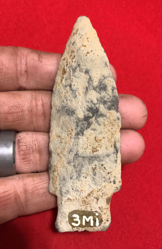 "QUALITY 4"" ARGILLITE HOOVERS IS-PA Indian Artifact-NY NJ Arrowhead-TMI BOWSER"
