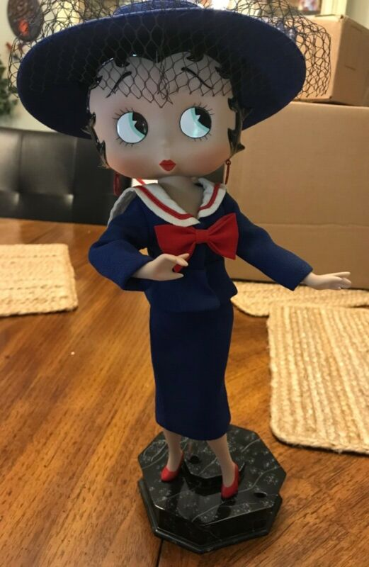 Betty Boop as Allure Porcelain Doll Danbury Mint with COA in Excellent Condition