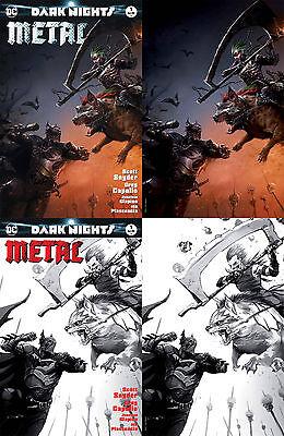 Dark Nights Metal 1 Francesco Mattina Color Sketch Virgin Set 4 Variant Batman