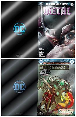Teen Super Heros (Teen Titans 12 Dark Nights Metal 3 Francesco Mattina Batman Foil Variant Set)