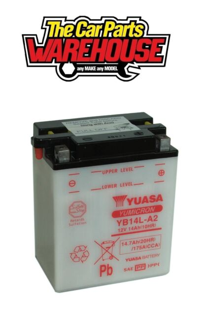 YB14L-A2 Genuine Yuasa Motorcycle ATV Quad Buggy Battery xX With Acid Pack Xx