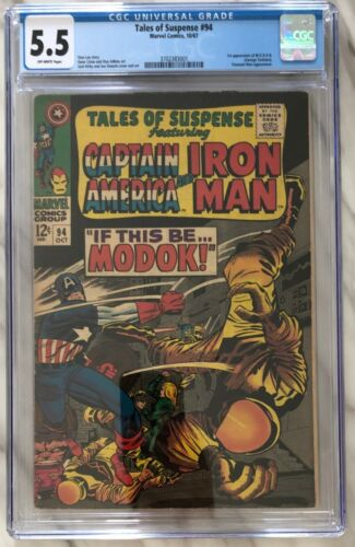 TALES OF SUSPENSE #94 CGC 5.5 (OW) 1st appearance of MODOK | Marvel Comics 1967