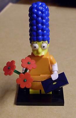 Lego Die Simpsons Figur - Marge Simpson ( orangenes Kleid Dress Blumen ) - Neu ()