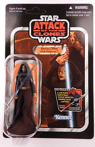2011 Star Wars Vintage VC51 Barriss Offee Lifesize Maul Offer Unpunched