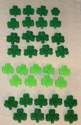 34 Vintage Melted Popcorn Plastic St Patricks Day Shamrock String Light Covers