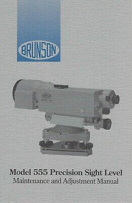 Brunson Precision Sight Level Maintenance And Adjustment Manual - Model 555