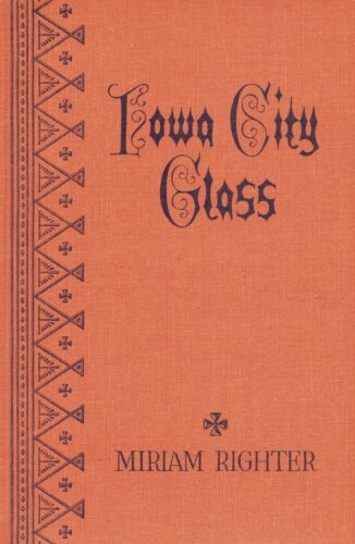 Antique Iowa City Pressed Glass - History Identification / Scarce Book
