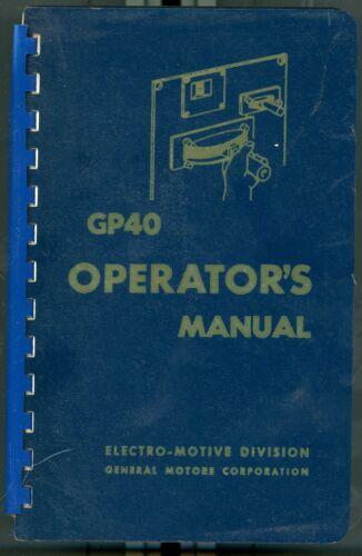RR GP40 Operating Manual 2