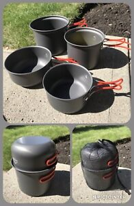 2-3 PERSON ULTRALIGHT BACKPACKING POT SETS