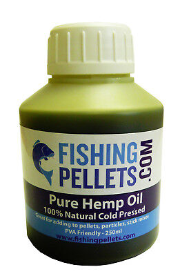 100% Pure Hemp Oil 250ml - Fishing Bait, Carp, Bait Dip, PVA Friendly