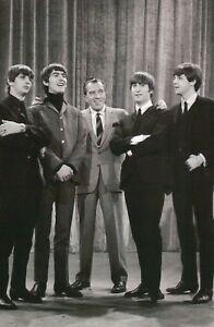 The Beatles with Ed Sullivan 1964, Paul McCartney John Lennon etc. TV - Postcard