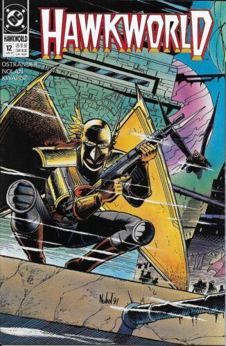Hawkworld Comic 12 Copper Age First Print 1991 Ostrander Nolan Kwapisz DC