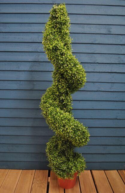 Artificial Topiary Leaf Swirl Border Pot for Home & Garden by Gardman