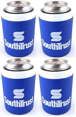 SouthTrust Bank Beer Soda Can Koozie Cooler Set of 4 South Trust