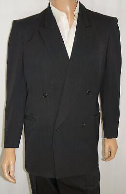 1950s Mens Suits & Sport Coats   50s Suits & Blazers VINTAGE 1950s 44R Marestic 2-Piece Suit - Men 44 Black Double Breasted 34x29 $149.00 AT vintagedancer.com