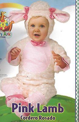 NEW Rubies PINK LAMB Infant Halloween Costume Noah's Ark Baby 12-18 Months