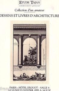 Catalogue vente tajan drouot dessin livre ancien sur l 39 architecture - Livre sur l architecture ...
