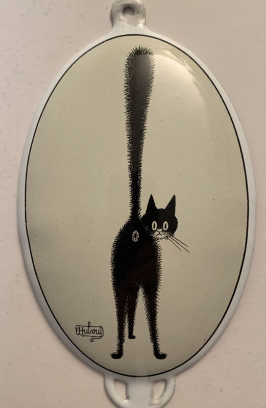 Albert Dubout - The Third Eye - Editions Clouet - Wall Hanger Hook - Black Cat