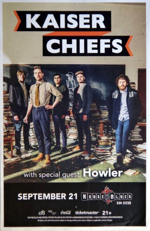 KAISER CHIEFS / HOWLER 2014 SAN DIEGO CONCERT TOUR POSTER - Indie Rock Music