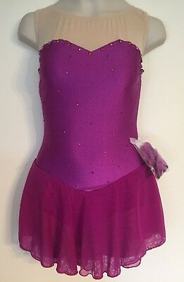 Figure Skating NEW Dress Adult XS (child 12-14) Hibiscus NWT Ice Competition