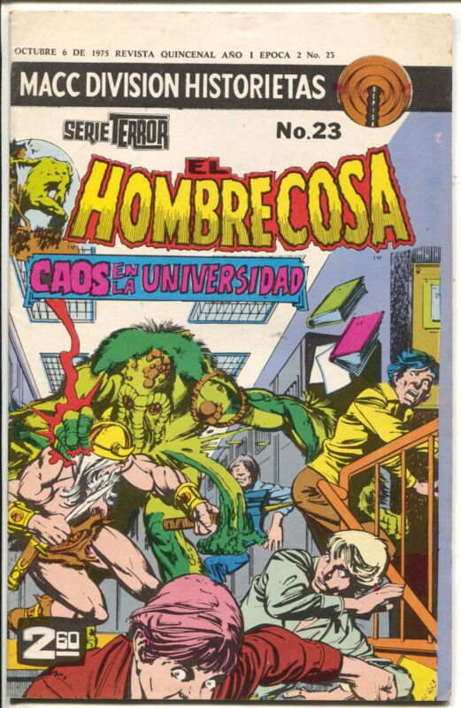 El Hombrecosa #23 1975-Marvel-Man Thing-horror issue-Mexican-VG/FN