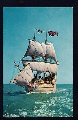 c1964 ship Susan Constant in Chesapeake Bay Virginia postcard