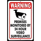 SECURITY SURVEILLANCE SIGNS Sign burglar- robber- thief video warning