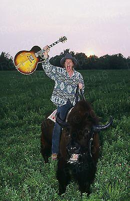 TED NUGENT Gibson Byrdland Guitar on a Buffalo Original 12x18 Photo Photograph