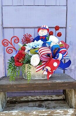 Fourth Of July Centerpieces (Patriotic Centerpiece- 4th of July Decor- July 4th)