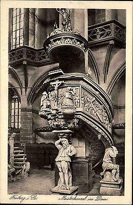 Freiberg in Sachsen alte Ansichtskarte ~1930 Blick auf die Meisterkanzel im Dom