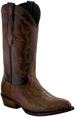 Mens Honey Genuine Ostrich Leg Skin Smooth Leather Cowboy Boots J Toe Ostrich Leg Skins