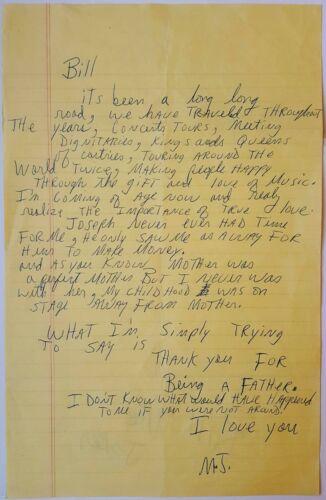 1992 MICHAEL JACKSON amazing heartfelt autographed letter signed - after Beatles