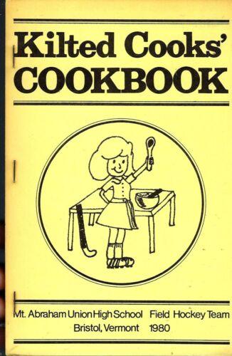 BRISTOL VT 1980 MT ABRAHAM UNION HIGH SCHOOL KILTED COOK BOOK FIELD HOCKEY TEAM