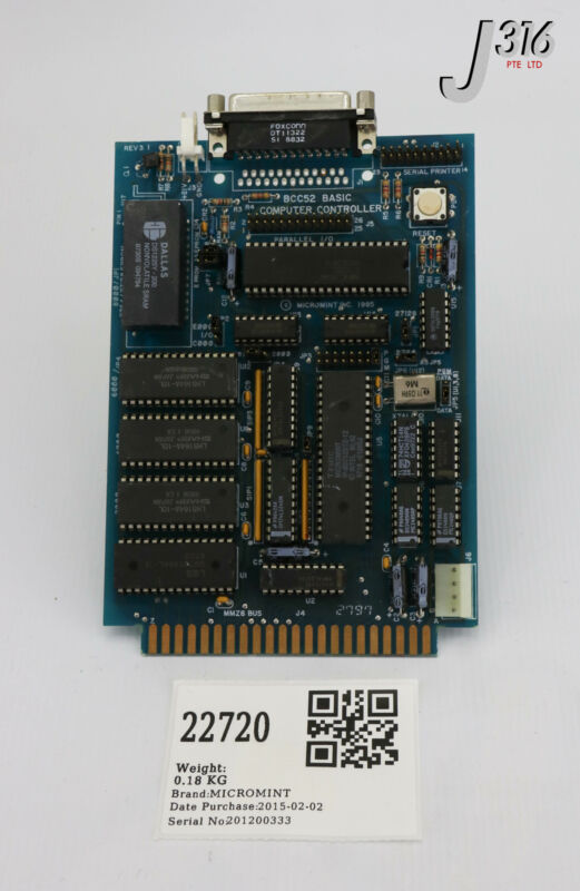 22720 Micromint Pcb, Basic Computer Controller Bcc52