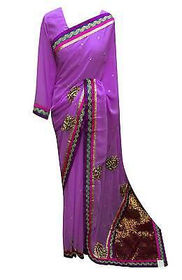 Asiatische Kleidung (Damen Bollywood Formelle Kleidung Südafrika Asiatisch Saree mit Langen Ärmel)
