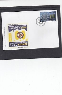 Croatia 2017 Lions International Centenary First Day Cover FDC