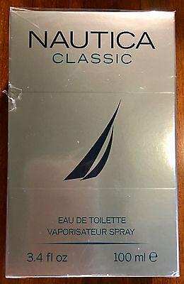 Nautica Classic Eau De Toilette Vaporisateur Spray 3.4 FL.OZ. NEW SEALED