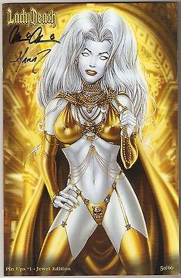 Lady Death Pin Ups 1. Jewel Edition. Ltd 5/66. Signed Pulido & Mychaels!
