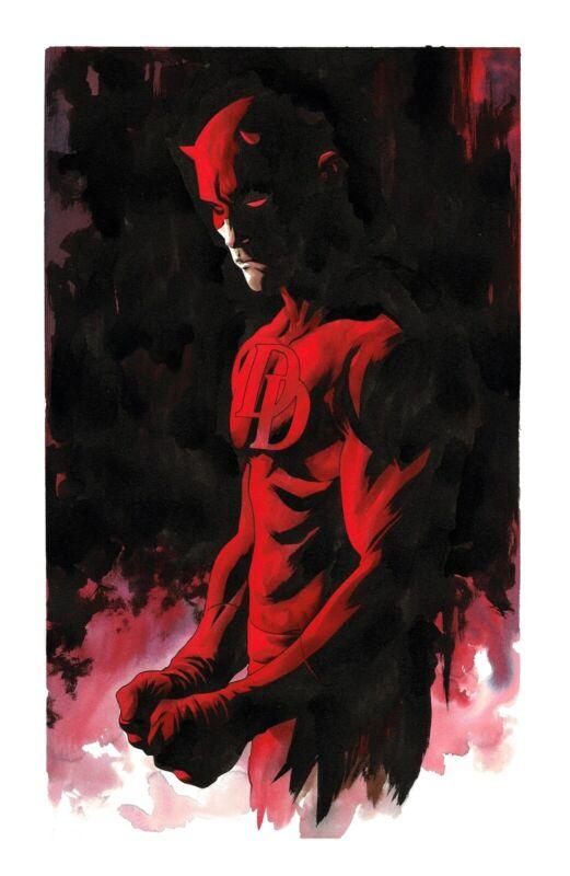 Stunning Daredevil Original Art Painting, Mike McKone! MCU!