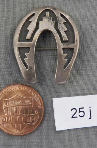 Vintage Sterling Silver, Hopi Overlay Bear Pin