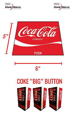 Dixie Narco Dncb 240 138 Vending Machine Coke Big Button 12 Oz Can Vend Label