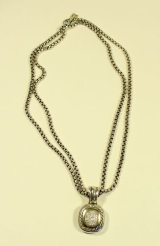David Yurman Albion Pave Diamond Pendant Enhancer 36