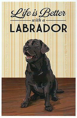 Life is Better with a Labrador Retriever, Dog Breed, K9 - Modern Animal Postcard