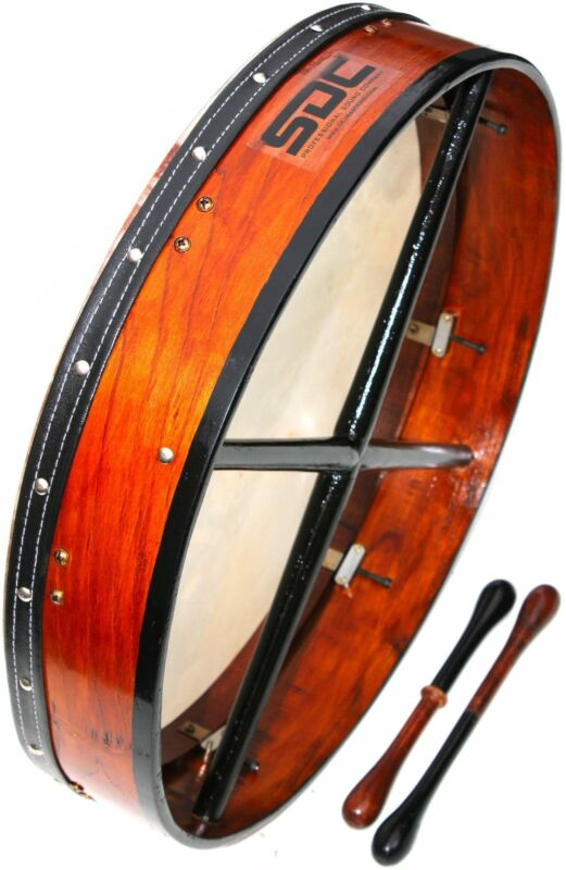 "DEURA 18"" TUNABLE BODHRAN with CASE 2 BEATERS $99.99"