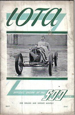 IOTA 500cc Racing Club Magazine May 1947 Official Organ of the 500 Club